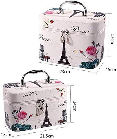 化粧品袋 軽量ポータブル大化粧ケース多機能化粧品収納袋シンプルなデザインのポータブルトラベルコスメティックバッグ 旅行化粧収納ボックス (Color : High heels, Size : Small)