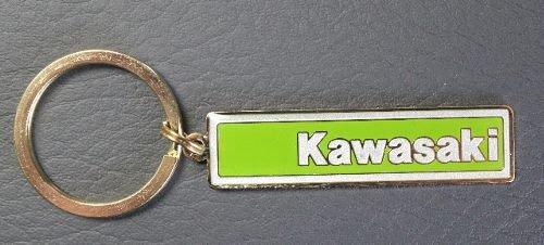 Kawasaki Enamel Logo Keychain - Green