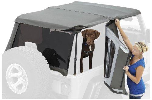 Bestop Window (Bestop 58222-35 Black Diamond Tinted Window Kit for Trektop NX for2007-2018 Wrangler 2-Door)