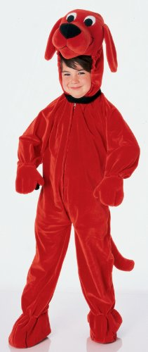 Boy's Clifford The Big Red Dog Theme Jumpsuit Child Halloween Costume, Child S (4-6) (Clifford The Big Red Dog Halloween Costume)