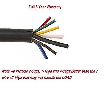 Amazon.com: 50- FEET 7 WIRE TRAILER CABLE 2-10 GAUGE 1-12 GAUGE AND ...
