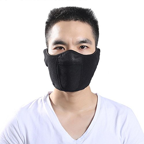 Trenton Unisex Outdoor Fleece Winter Warm Washed Reusable Windproof Face Mouth Mask for Ski Cycling Snowboard ()