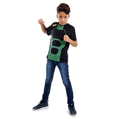 Camiseta Nerf Luxo Infantil 12156-P Sulamericana Fantasias Preto/Verde P 3/4 Anos