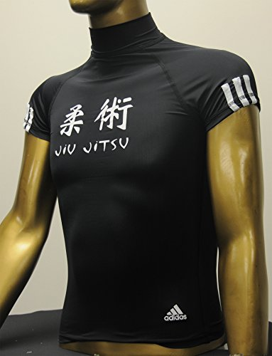 adidas Jiu-Jitsu, MMA Compression Rashguard (Black, Small)