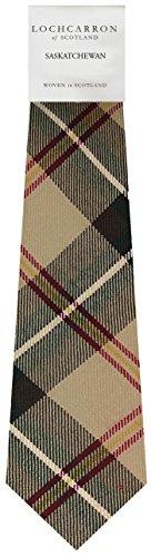 Saskatchewan Canadian Plaid Soft Pure Wool Necktie
