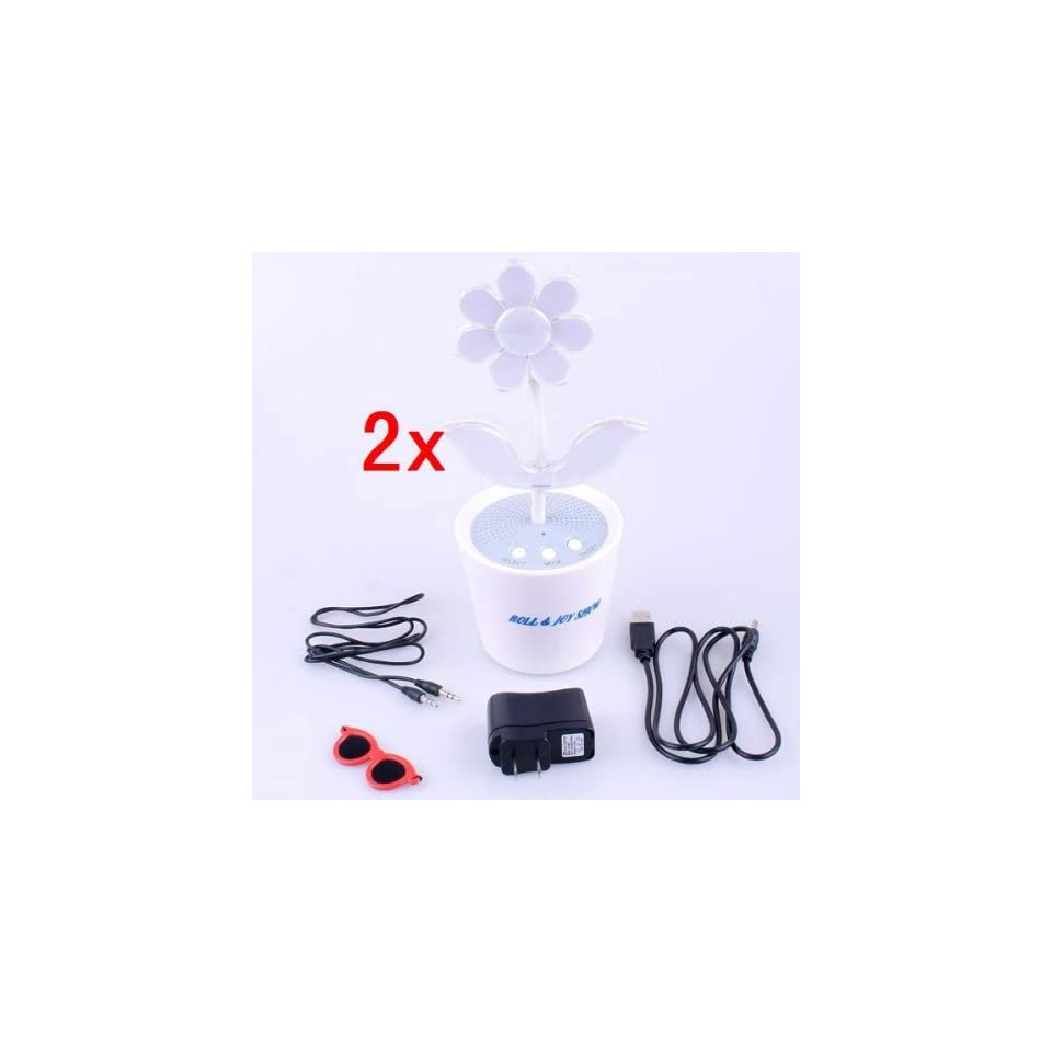 Neewer 2x Sound Activated LED Music Dancing Flower Stereo Speaker