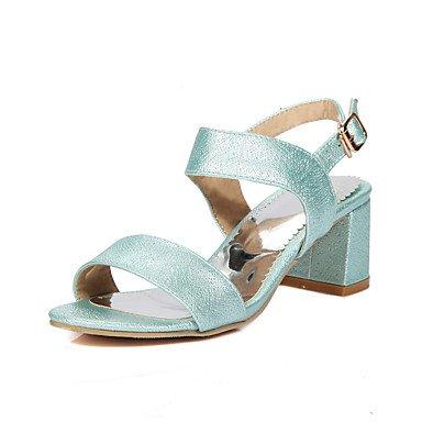 LvYuan-ggx Femme Chaussures à Talons Escarpin Basique PU de microfibre synthétique Polyuréthane Printemps EtéMariage Décontracté Habillé Soirée & blue U42ni9IlS3
