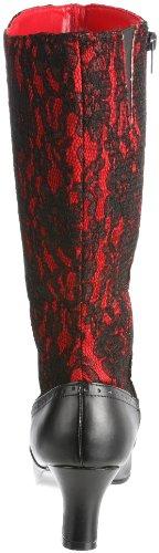 Funtasma SPOOKY-160 Red Satin-Blk Lace Size UK 3 EU 36