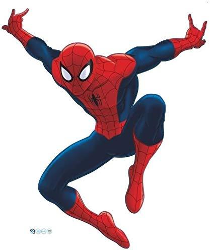 Kibi Stickers Muraux Spiderman 3D Effect Autocollants Chambre Decor D/écoration Sticker Adhesif Mural G/éant R/épositionnable Stickers Muraux Enfants Spiderman