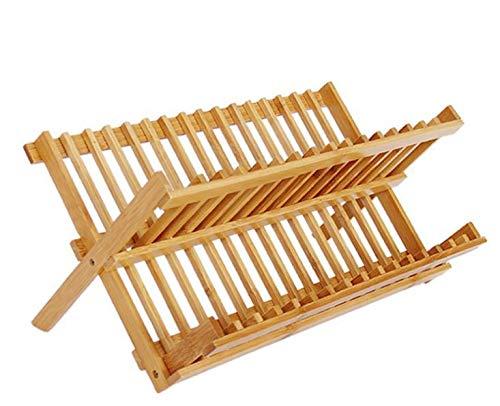 bamb/ù Hacoly scolapiatti Cucina scolapiatti stoccaggio Rack Multiuso Porta Posate da Cucina Essere utilizzato Come portapiatti o portaoggetti per la Tua Cucina 16 griglia