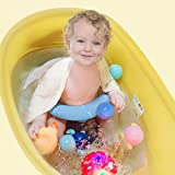 BLANDSTRS Baby Bath Seat with Thermometer, Portable
