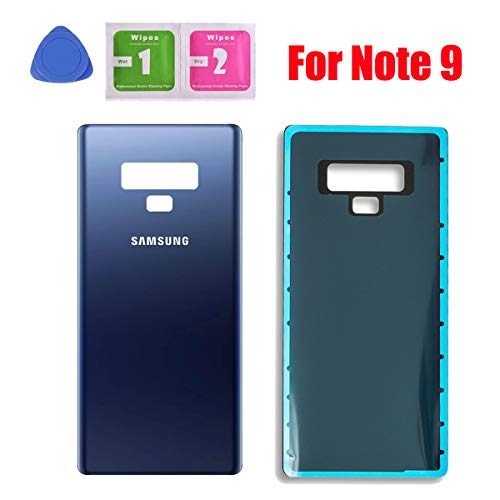 Back Glass Cover Battery Door Replacement for Samsung Galaxy Note 9 N960 (Blue)