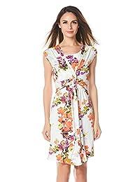Bearsland Women's Maternity and Nursing Short Sleeves Floral Dress