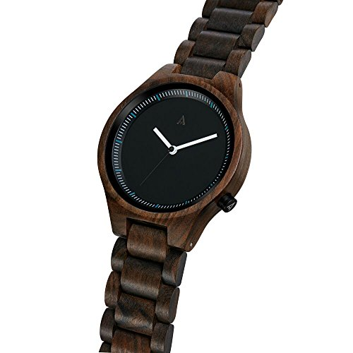 Amazon.com: MAM Originals · Owl Black | Mens Watch | Minimalist Design | Watch Made from sustainably Sourced Sandalwood | Superior Quality at an Affordable ...