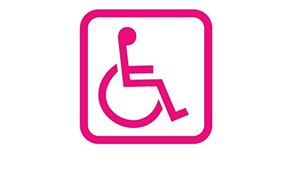 11 Colours DISABLED ACCESS REQUIRED Vinyl Car Van Sticker Wheelchair