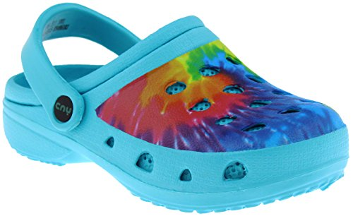 Capelli New York Girls Tie Dyed Clog with Backstrap Turquoise Combo -