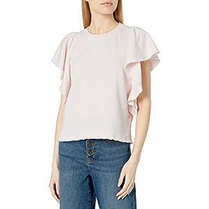 Michael Stars Women's Ariana Flutter Sleeve Pullover Sweatshirt