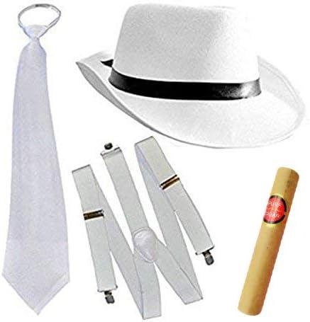 Al Capone Gangster Cappello nero 20 S Adulti Mafia Costume