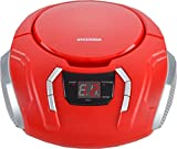 Sylvania Portable CD Boombox with AM/FM Radio, Red