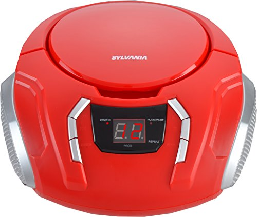 Sylvania Portable CD Boombox with AM/FM Radio - SRCD261B-Red]()