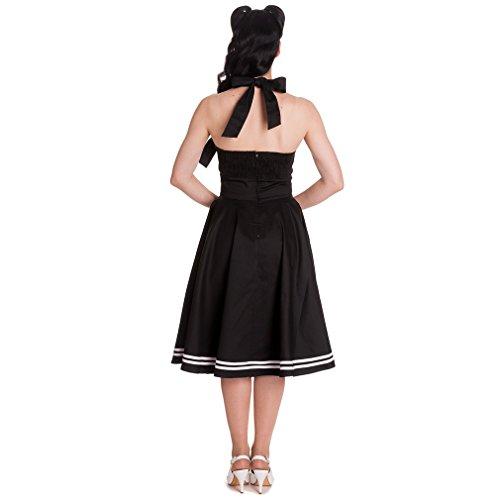 Hell Bunny - Vestido - cuello hálter - para mujer negro