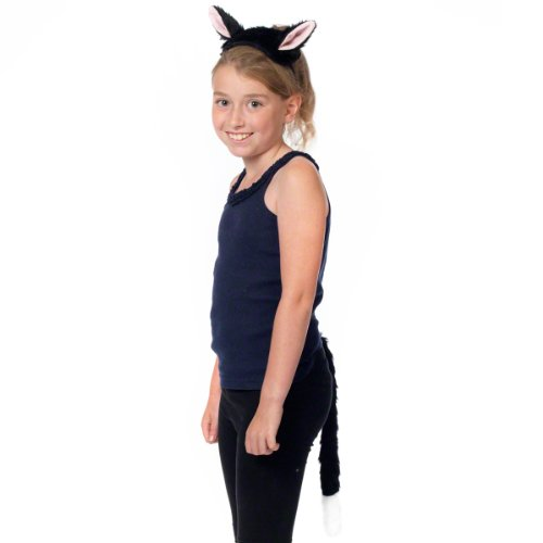 Kittens Cute In Costumes (Cat Ears and Tail Set. Costume accessory for kids.)