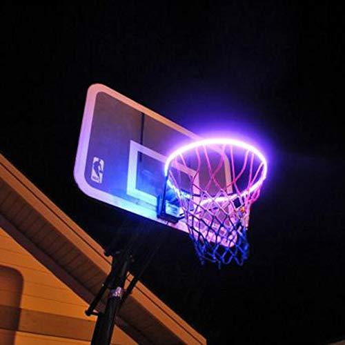 ASERTYL Sports Light Strip Rainproof Hoop Light LED Lit Basketball Rim Attachment Helps You Shoot Hoops at Night Basketball Light ()
