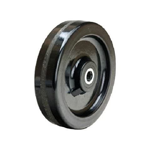 "(One) Durable 8"" x 2"" Phenolic Wheel with 1/2"" ID (1400# Cap.)"