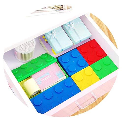 Legoings Saving Space Case Office House Desktop Organizer Storage Box,S 8 x 5.5 x 5.5 cm,Blue