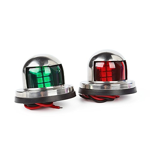 ltc-one-pair-marine-boat-yacht-light-12v-stainless-steel-led-bow-navigation-lights