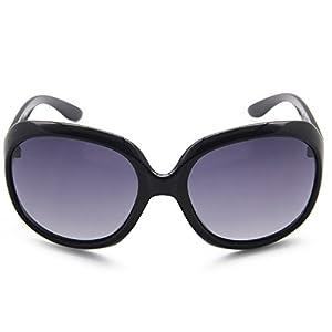 AMZTM Classic Simple Oversized Polarized Women Sunglasses All-match Large Frame Eyewear (Black, 66)