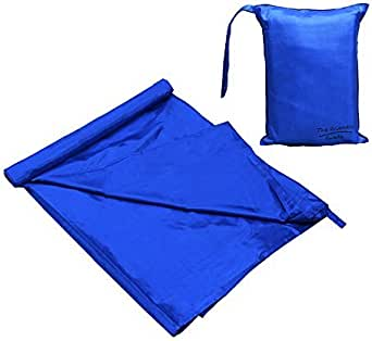 The Friendly Swede Sleeping Bag Liner - Travel Sheets for Camp Bedding, Lightweight in Polyester Silk or Microfiber - Pocket-Size with Stuff Sack