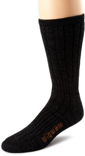 Silk Cotton Faille - Wigwam Men's Merino/Silk Hiker Heavyweight Crew Socks,Black,Large /shoe Size:Men's 9-12,Women's 10-13