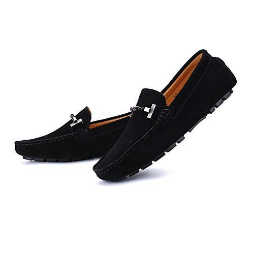 e fino vera Dimensione EU shoes Mocassini sutura suede bassi di Color di di 43 in da uomo scamosciati pelle guida da Vino alla taglia barca Xiazhi Mocassini pelle 47 Nero EU da vitello RawqwBC