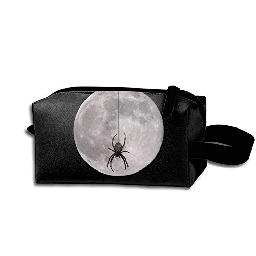 scakoko Women's Travel Cosmetic Bags Holiday Halloween Moon Small Makeup Clutch Pouch]()