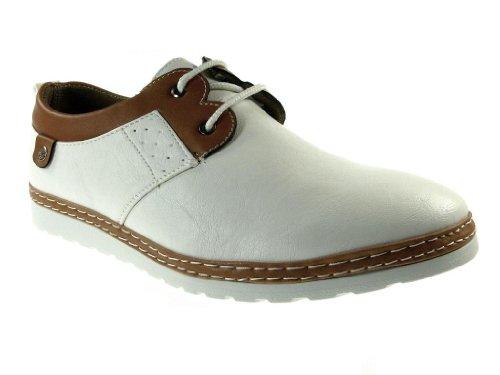 Herren Oneonta Two Tone Lace up Chukka Kleid Schuhe Weiß