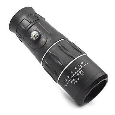 WYFC 3963 16x52 Black Handy Portable 16X Monocular Single-Tube Telescope w/ boussole / compas