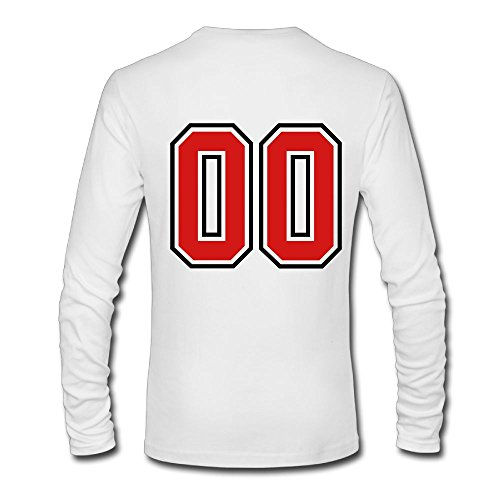 Engtaiquji 00 Sports Jersey Football Number Zero Custom Men's Blank Long Sleeve T-Shirt Size XL Color - Hours Jersey Shore Store
