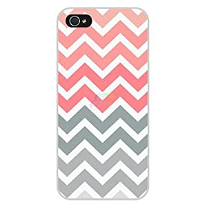 International Market Trading? Pink And Grey Chevron Hard Case Cover for Iphone 6 Plus 5.5 Inch Verizon T-Mobile AT&T Sprint Mobile Wireless +with one random color Hair Ties