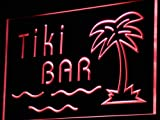 ADVPRO Tiki Bar Palm Tree Island Display LED Neon Sign Red 24'' x 16'' st4s64-i787-r