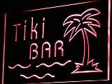 ADVPRO Tiki Bar Palm Tree Island Display LED Neon Sign Red 24'' x 16'' st4s64-i787-r