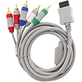 Fosmon Component HD AV Cable to HDTV/EDTV (High Definition 480p) for Nintendo Wii & Wii U - Lifetime Warranty