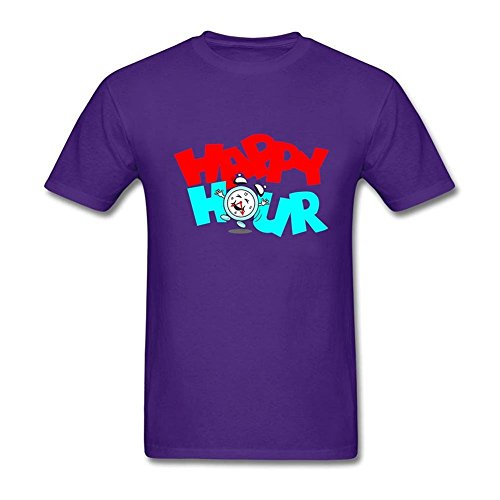 Clarkest Happy Hour Clock for Adult Man 100% Cotton Purple XXL