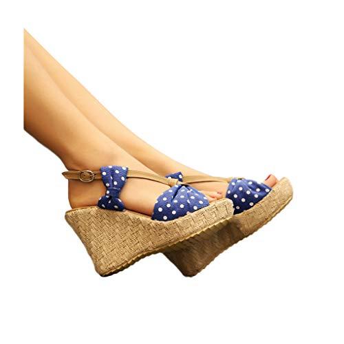 Alto E Fondo Sandali Tacchi Donna Femminili Success Spesso Comodi Scarpe Blu Tacco Da Eleganti Con IvwPqqWSTx