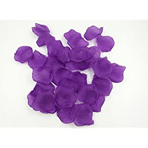 1000PCS Brial Shower Artificial Fabric Rose Silk Flower Petals Table Scatters for Wedding Romantic Night Purple Prom Ball Party Aisle Decorations Floor Confetti 3