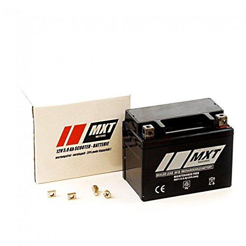 Rollerbatterie 12V 5Ah (SLA4L-BS) Roller Batterie (versiegelt / wartungsfrei) - für fast alle Roller (Aerox , Speedfight, CPI, Keeway, Aprilia SR50, Malaguti, Benelli, Gy6 China Roller Baumarktroller etc)