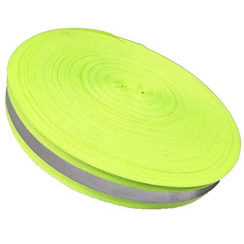 LTKJ 5M-50M Silver Reflective Tape Strip Sew-On Lime Orange Green Fabric Safty Vest Width 2
