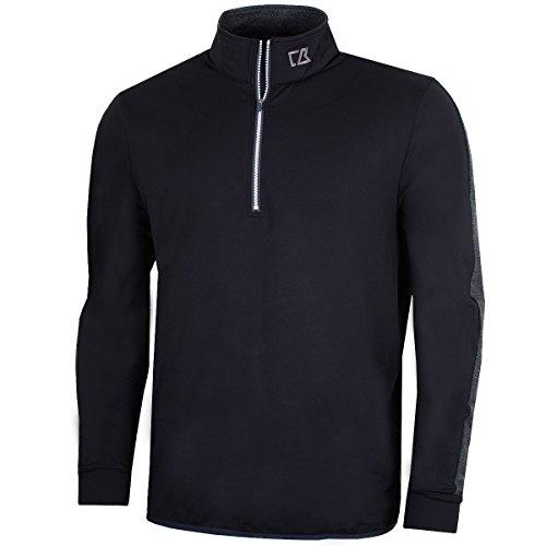 Cutter & Buck 2017 Mens Water Resistant Montana Half Zip Performance Pullover Black XL - Half Zip Windproof Pullover