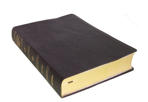 KJV - Black Genuine Leather - Large Print - Indexed - Thompson Chain Reference Bible (025140)
