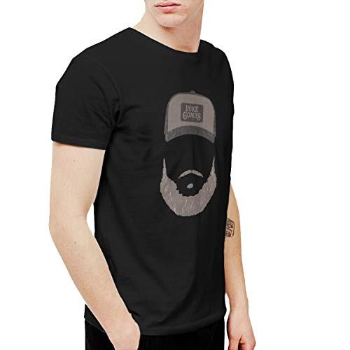 Kangtians CLANN Luke Combs Heather Stone Beard Men's Short Sleeve T-Shirt Black XXL (Fake Beards For Sale That Look Real)
